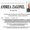 Addio Andrea Zagonel, funerali giovedì 1 settembre alle 14.30 a Transacqua