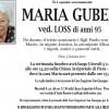 Addio a Maria Gubert vedova Loss, funerali giovedì 5 gennaio alle 14.30 nella Chiesa Arcipretale di Fiera