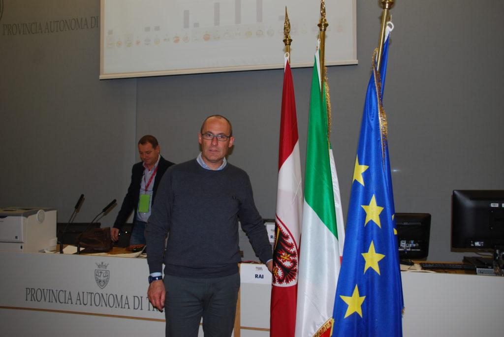 Il neo presidente Ugo Rossi