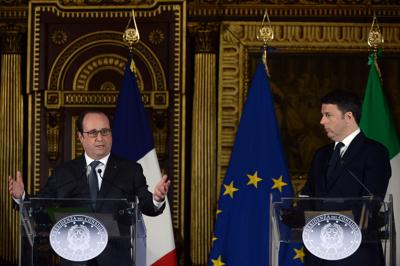 Renzi_Hollande_Venezia_Afp