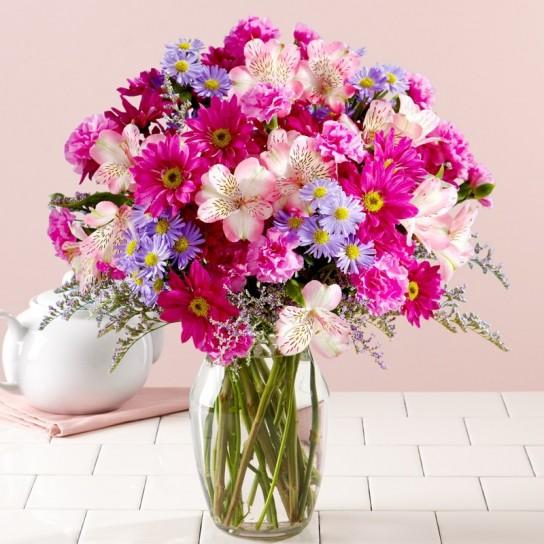 Mazzo Di Fiori Per La Mamma.Bouquet Di Fiori Colorati Mamma Lavocedelnordest