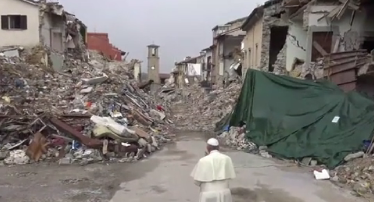 Papa Francesco ad Amatrice: