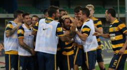 Hellas Verona saluta Racines, ritiro 2017/18 a Primiero S. Martino di Castrozza in Trentino