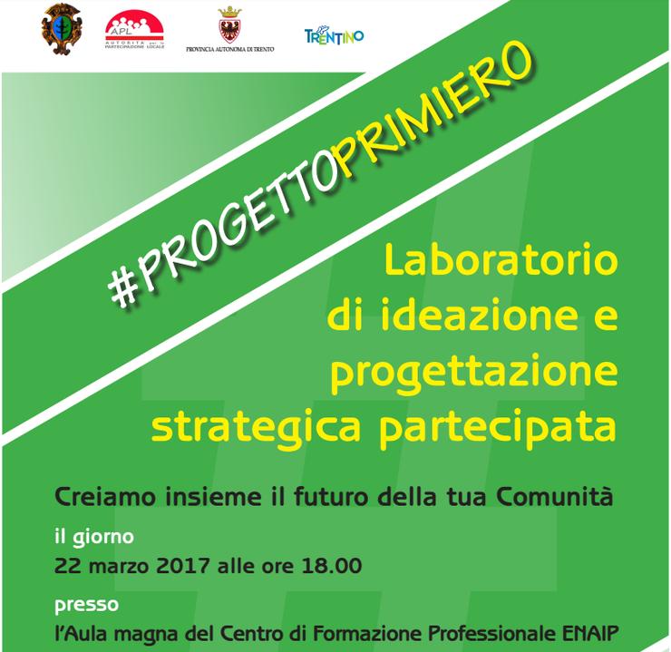 Progettoprimiero evento partecipativo mercoled dalle for Decorazione provinciale francese con un budget