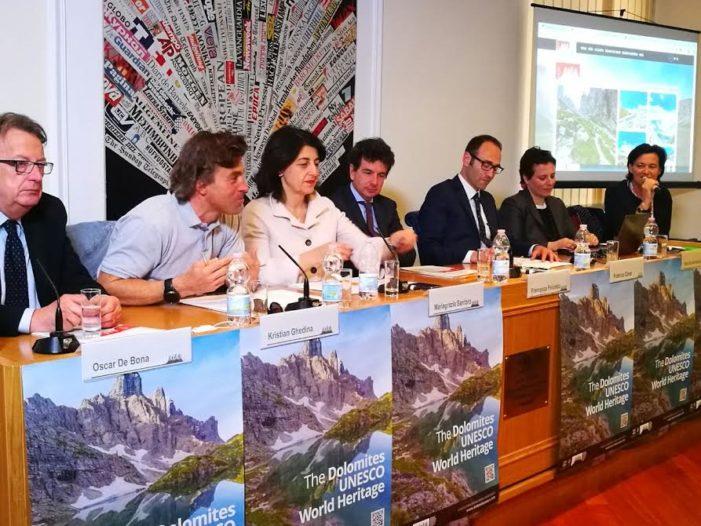 Dolomiti Unesco, Presentato a Roma il nuovo portale web visitdolomites.com
