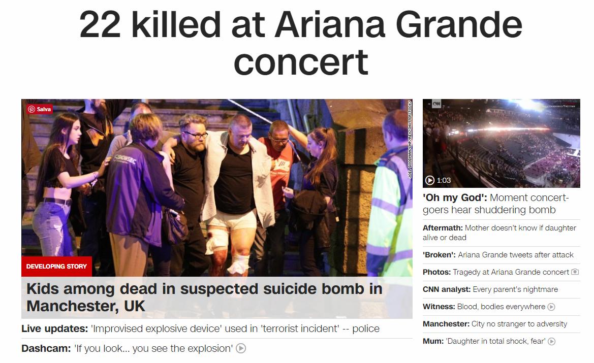Terrore a Manchester, bomba al concerto di Ariana Grande: 19 morti