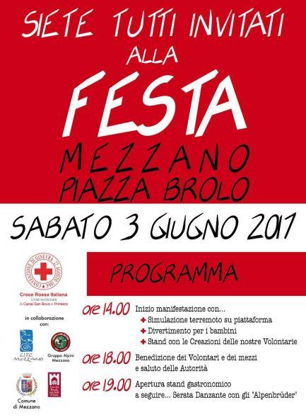 Croce rossa in festa a Mezzano, sabato 3 giugno (PROGRAMMA)