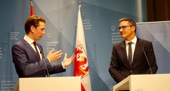 Austria, Cancelliere Kurz: non accoglieremo migranti Pozzallo. Kompatscher: situazione migranti cambiata
