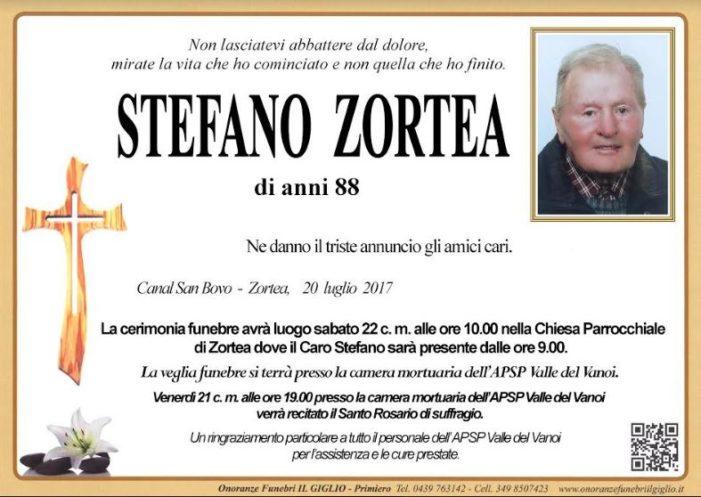 Addio a Stefano Zortea, funerali a Zortea sabato 22 luglio ad ore 10