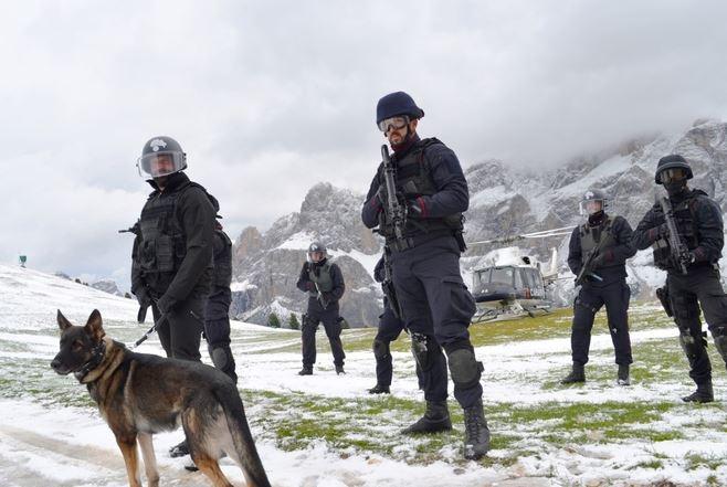 Delitto ad alta quota, esercitazione dei Carabinieri