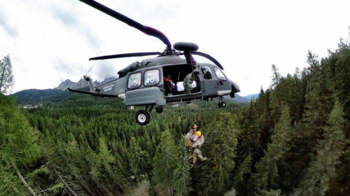 """Operazione """"Grifone"""", si è conclusa tra le Dolomiti la più grande esercitazione di soccorso aereo (VIDEO)"""