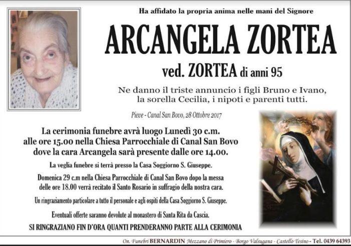 Addio ad Arcangela Zortea vedova Zortea, funerali lunedì 30 ottobre alle 15 a Canal San Bovo