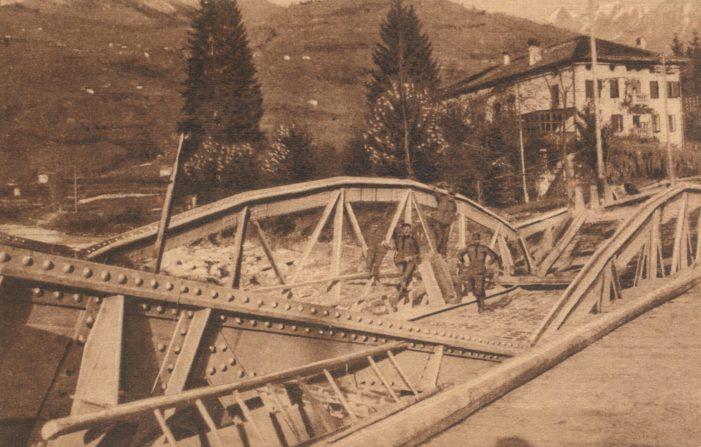 6 Novembre 1917 reparti di Kaiserschuetzen giungono a Fiera di Primiero e Caoria