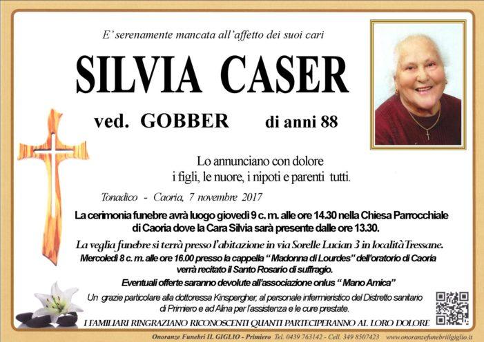 Addio a Silvia Caser, funerali giovedì 9 novembre alle 14.30 a Caoria