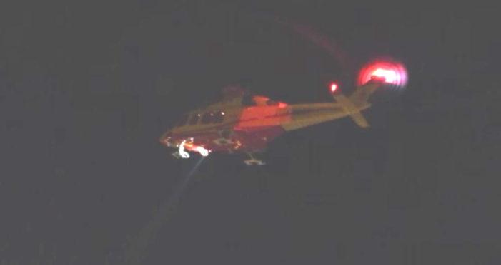 Primiero, Elisoccorso sbarca sanitari in piazzola e i Vigili del fuoco trasferiscono l'equipe a Mezzano