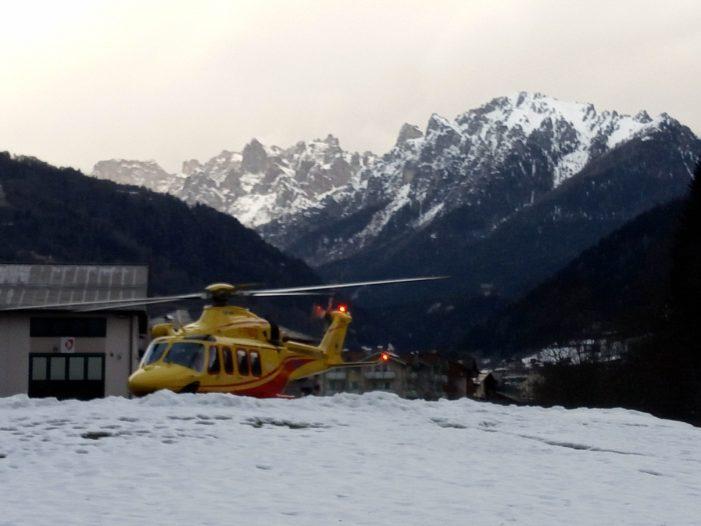 Elisoccorso a Primiero mercoledì pomeriggio per una sciatrice caduta sulle piste da sci