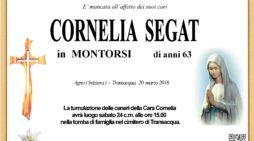 Addio a Cornela Segat in Montorsi, l'ultimo saluto a Transacqua sabato 24 marzo alle 15
