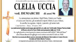 Addio a Clelia Uccia vedova Demarchi, funerali giovedì 22 marzo alle 14.30 a Ronco