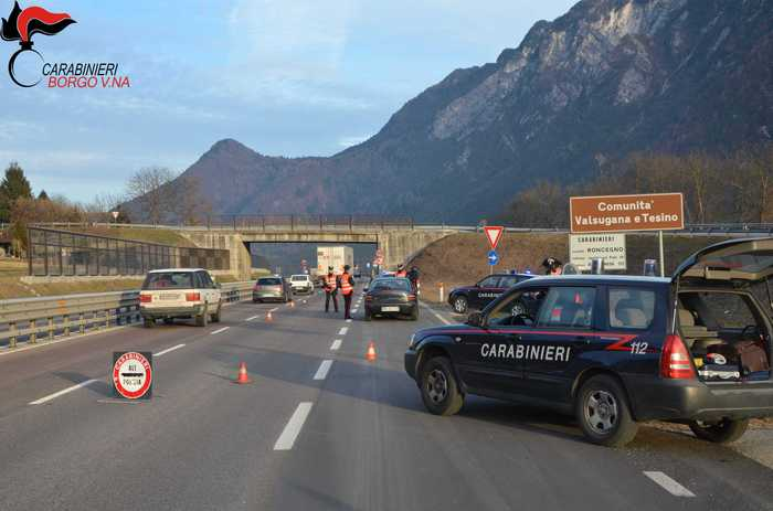 Valsugana, Violenta lite in autogrill a Pergine: tre denunciati