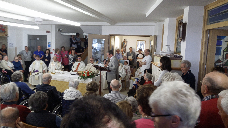 Apsp San Giuseppe in festa a Primiero con l\'Arcivescovo Lauro Tisi ...