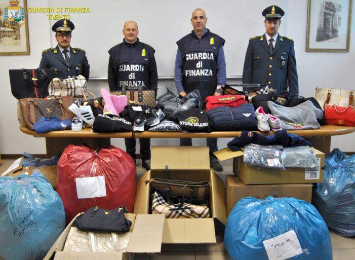 'Aphrodite', Vasta operazione delle Fiamme gialle di Trento contro il commercio illegale on-line di prodotti contraffatti