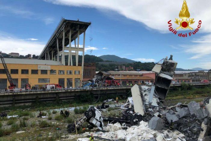 Tragedia a Genova, 38 i morti, ma ci sono 'ancora 10-20 dispersi'
