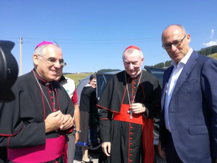 """Passo Vezzena, Chiesetta di Santa Zita """"Simbolo di fratellanza fra i popoli"""", ricordando tutti i caduti della Grande Guerra con il Cardinal Parolin"""