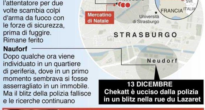 Strasburgo,  blitz della polizia francese:  ucciso il terrorista della strage. Isis rivendica l'attacco: era un nostro soldato