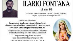 Addio a Ilario Fontana, l'ultimo saluto sabato 26 gennaio alle 10 nella chiesa di Canal San Bovo