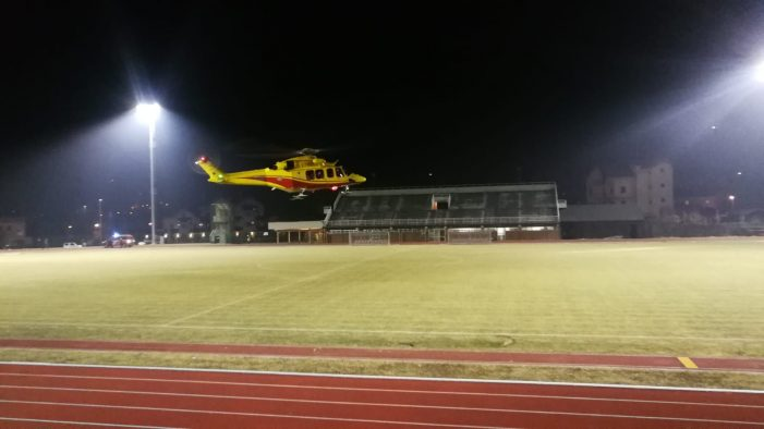 Elisoccorso, Primo atterraggio in notturna al campo sportivo di Mezzano. A San Martino di Castrozza intervento per un ragazzo ferito fuori pista