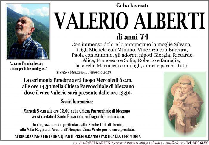 Addio Valerio Alberti, funerali mercoledì 6 febbraio alle 14.30 nella chiesa di Mezzano