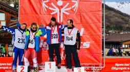 """Giochi Invernali 'Special Olympics': splendido podio per Luca Corso: uno Chef Speciale sugli sci. Il suo sogno? """"Vorrei dare una mano alla mia associazione aiutando altri ragazzi"""""""