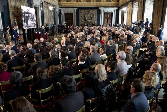 Quirinale, 'Giorno del Ricordo': 'Un capitolo buio della storia nazionale e internazionale'