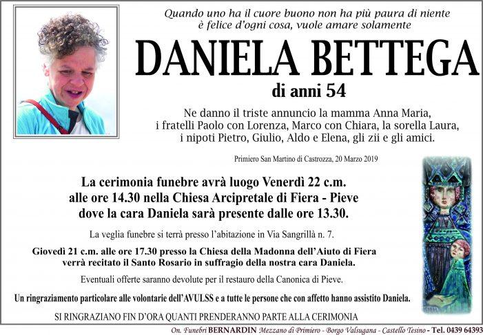 Addio a Daniela Bettega, funerali venerdì 22 marzo alle 14.30 nella Chiesa Arcipretale di Fiera – Pieve
