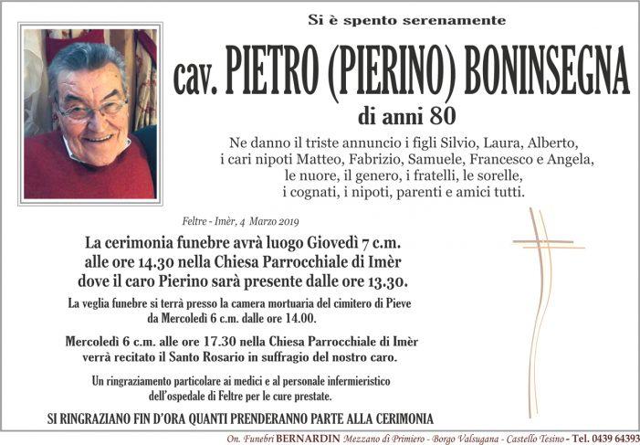 La comunità di Primiero piange la scomparsa di Pietro Boninsegna, funerali a Imèr giovedì 7 marzo alle 14.30
