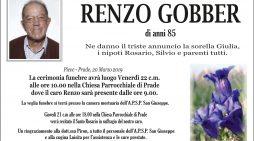 Addio a Renzo Gobber, funerali a Prade venerdì 22 marzo alle 10