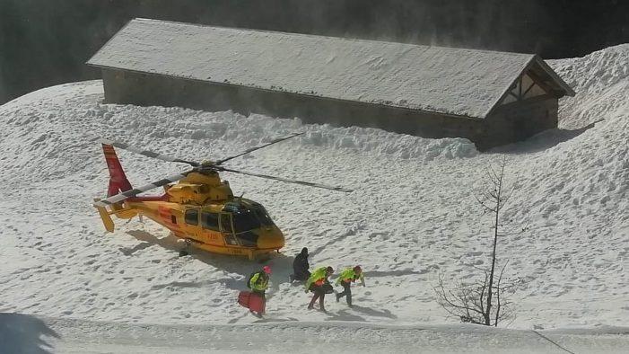 Elisoccorso a San Martino di Castrozza: terzo intervento sulle piste in pochi giorni. Settimane di grande lavoro per il Nucleo in tutto il Trentino