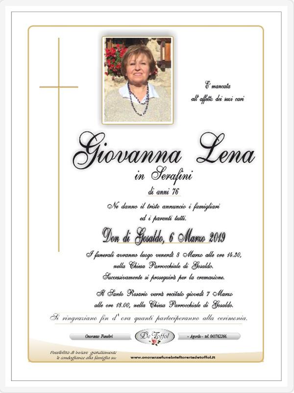Lutto per la famiglia del Segretario della Comunità di Primiero, Samuel Serafini: è scomparsa la madre Giovanna Lena, funerali venerdì pomeriggio a Gosaldo