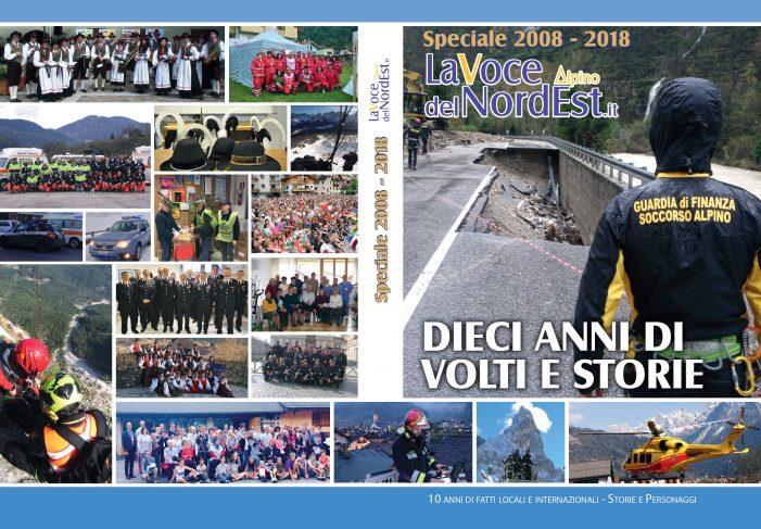 """LaVocedelNordEst.it 2008 – 2018 """"Dieci anni di Volti e Storie tra le Dolomiti"""": è uscito il nuovo libro che racconta il territorio"""