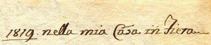 """Il """"Diario di Angelo Michele Negrelli"""": Primiero, lì 6 maggio 1819"""