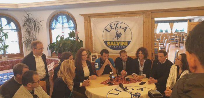 A Pinzolo Salvini ufficializza i candidati alla Camera e apre la campagna per le europee