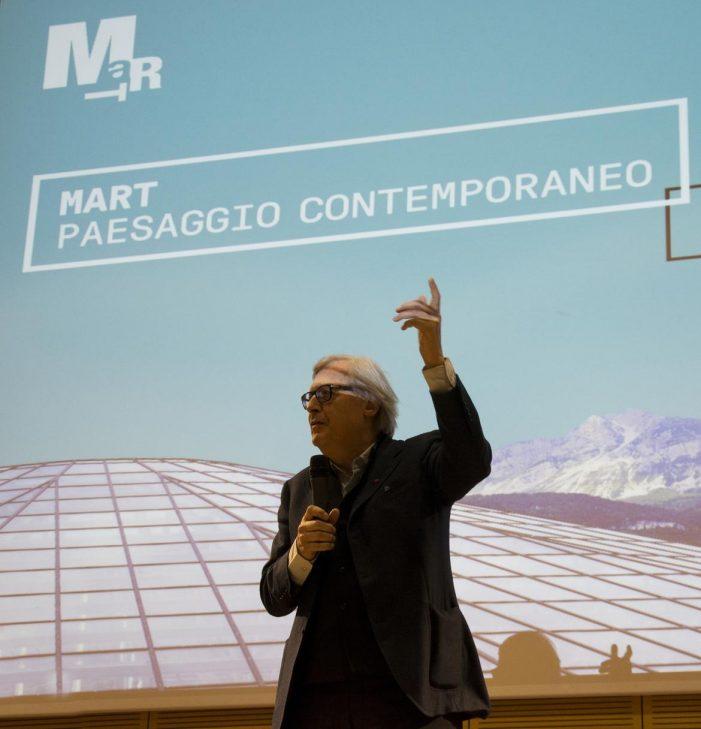 Rovereto, Conferenza spettacolo con il neo presidente Vittorio Sgarbi al Mart