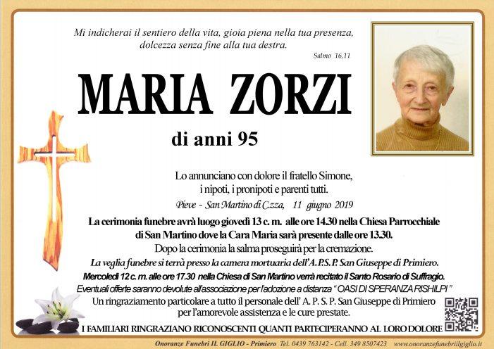 Addio a Maria Zorzi, funerali a San Martino di Castrozza giovedì 13 giugno alle 14.30 nella chiesa di San Martino di Castrozza