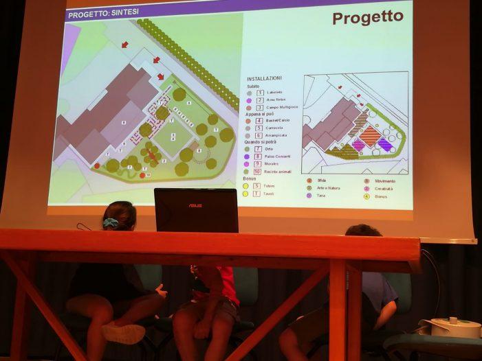 Pedavena, riqualificazione giardini scolastici: presentato il progetto degli studenti