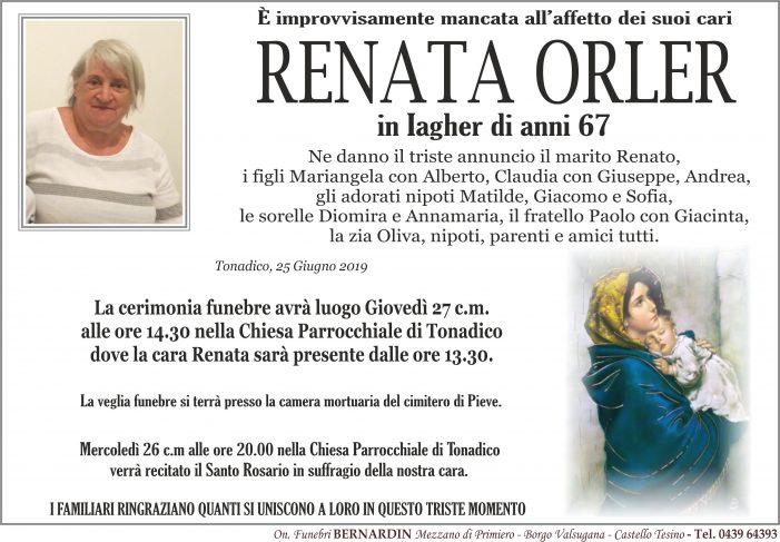 Addio a Renata Orler in Iagher, funerali giovedì 27 giugno alle 14.30 nella chiesa di Tonadico