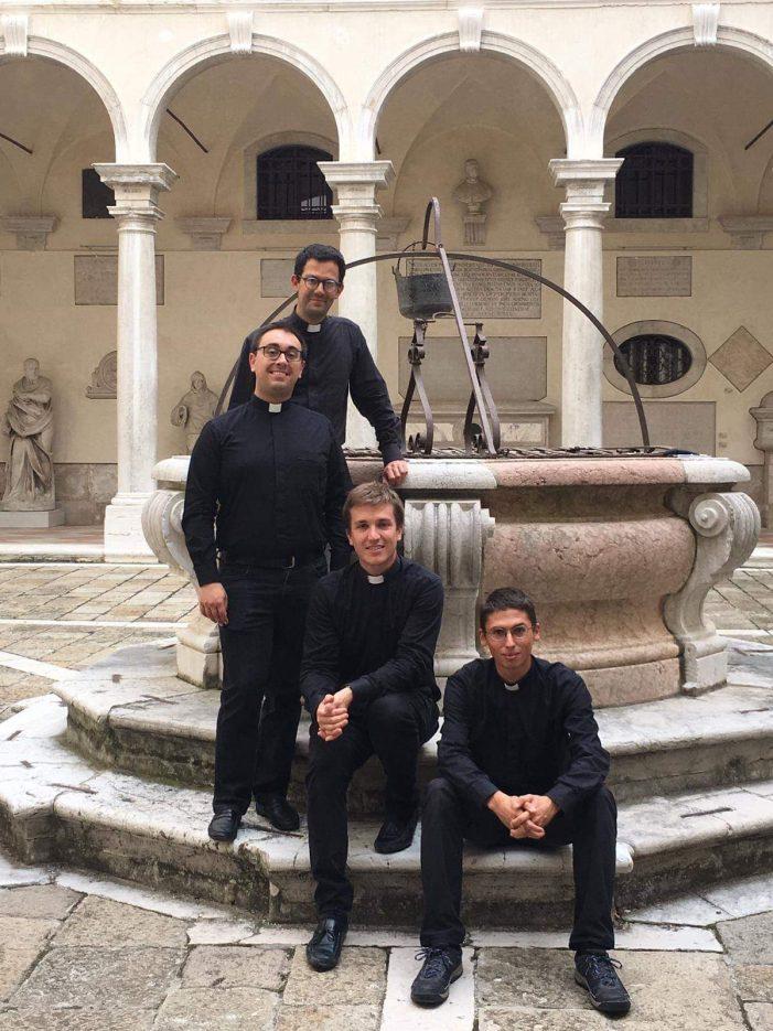 Giovanni, Gianpiero, Riccardo e Marco: quattro nuovi sacerdoti per la Chiesa di Venezia