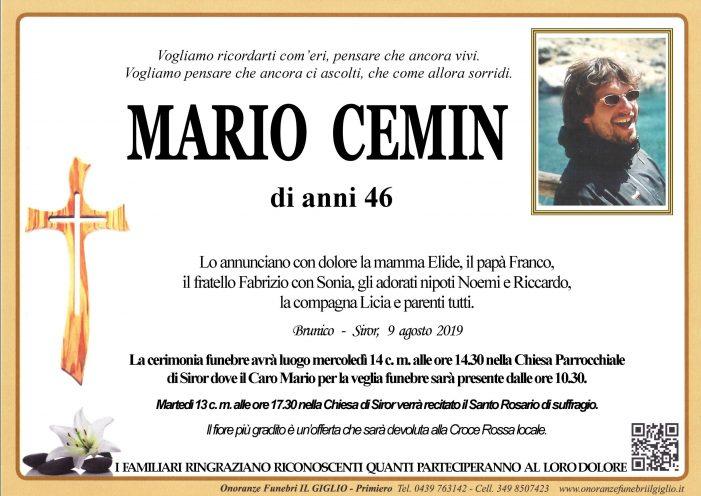 Chiesa gremita a Siror per l'ultimo addio a Mario Cemin: la comunità si stringe alla famiglia