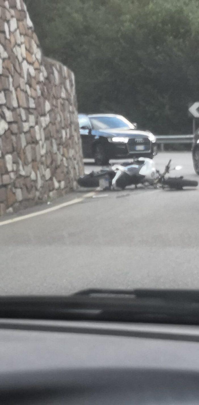 Incidente moto – auto tra Primiero e San Martino di Castrozza: ferito centauro di 55 anni